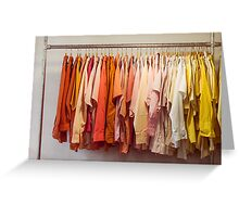 Clothing Rack With Shirts Greeting Card