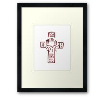 Religious Cross illustration Framed Print