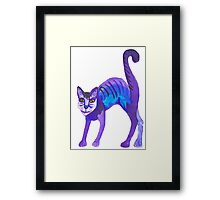 Purple Cat Framed Print