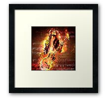 Jimmy Page - Rock and Roll Framed Print