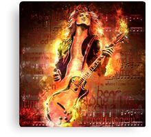 Jimmy Page - Rock and Roll Canvas Print