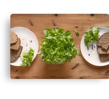 Bread And Lettuce Canvas Print