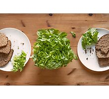 Bread And Lettuce Photographic Print