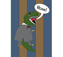 Male T-Rex Dinosaur in Suit Photographic Print