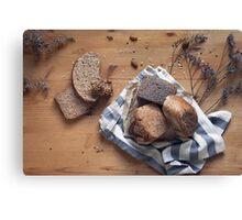 Brown Bread Still Life Canvas Print