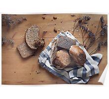 Brown Bread Still Life Poster