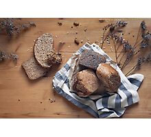 Brown Bread Still Life Photographic Print