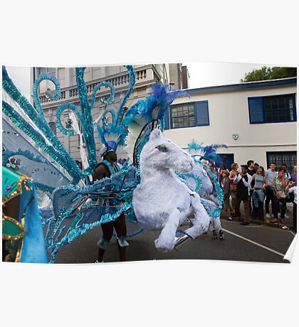 A million people attended the Notting Hill carnival in london Poster