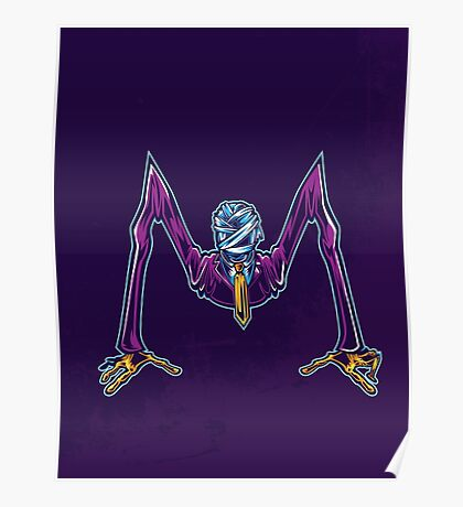 M is for Mummified Slender Man Poster