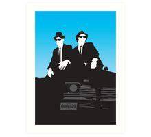 Blues Brothers Minimalist Image Art Print