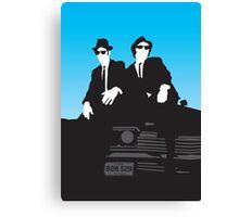 Blues Brothers Minimalist Image Canvas Print