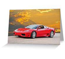 2001 Ferrari F1 360 Spider I  Greeting Card