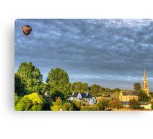 Balloon over Strathaven Canvas Print