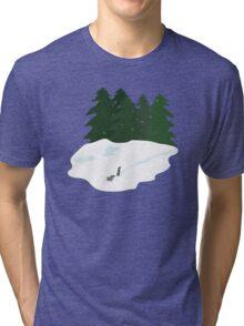 December scene Tri-blend T-Shirt