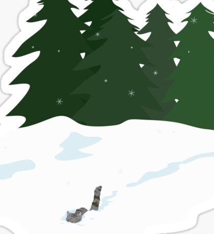 December scene Sticker