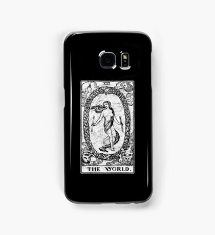 The World Tarot Card - Major Arcana - fortune telling - occult Samsung Galaxy Case/Skin