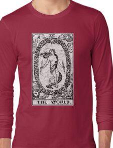 The World Tarot Card - Major Arcana - fortune telling - occult Long Sleeve T-Shirt