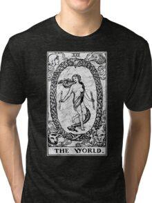 The World Tarot Card - Major Arcana - fortune telling - occult Tri-blend T-Shirt