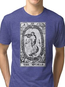 The World Tarot Card - Major Arcana - fortune telling - occult Tri-blend T-Shirt