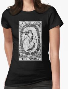 The World Tarot Card - Major Arcana - fortune telling - occult Womens Fitted T-Shirt