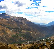 Panoramic Andes Mountains by Al Bourassa