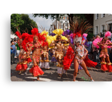 A million people attended the Notting Hill carnival in london Canvas Print