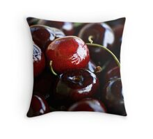 Traverse City Cherries Throw Pillow