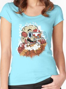 Attack On Plumber Women's Fitted Scoop T-Shirt