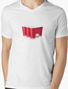 Beer Pong Mens V-Neck T-Shirt