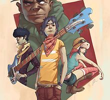 Gorillaz Poster by Jon-west