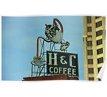 H & C Coffee Poster