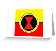 Black Widow Symbol Logo Greeting Card