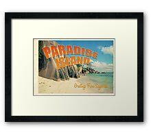 Seychelles paradise Framed Print