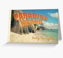 Seychelles paradise Greeting Card