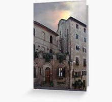Certaldo doors and windows  Greeting Card