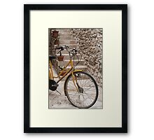 Yellow Bicycle Framed Print