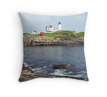 Cape Neddick Light Throw Pillow
