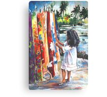 Tahitian Gril with Pareos Canvas Print