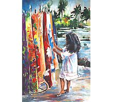 Tahitian Gril with Pareos Photographic Print