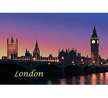 London city night lights Photographic Print