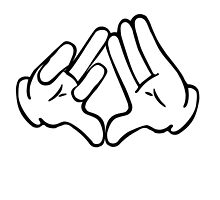 Dope Hands Triangle & Bird by TinaGraphics
