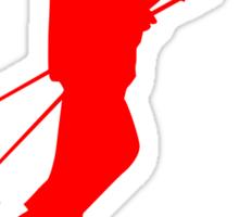 I Ski Red Sticker