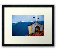 Old Church Greece Framed Print