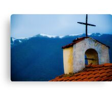 Old Church Greece Canvas Print