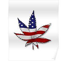 Flag Pot Leaf Poster