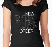 New Order TBTHG Racer Back Tank Women's Fitted Scoop T-Shirt