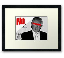 Against Donald Trump Framed Print