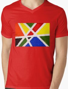 Mondrian Mens V-Neck T-Shirt