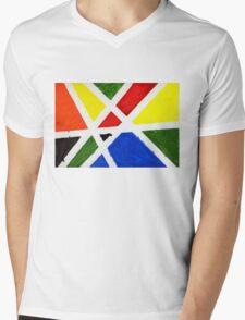 Mondrian Mens V-Neck T-Shirt