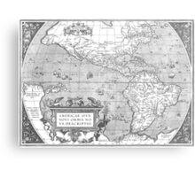 America Map 1587 Metal Print
